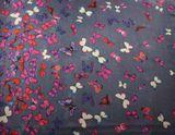 Šatka modro šedá s motýlikmi