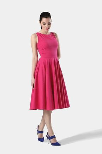 Midi šaty tmavo ružové