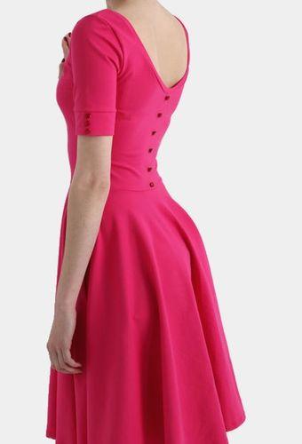 Šaty Pink button