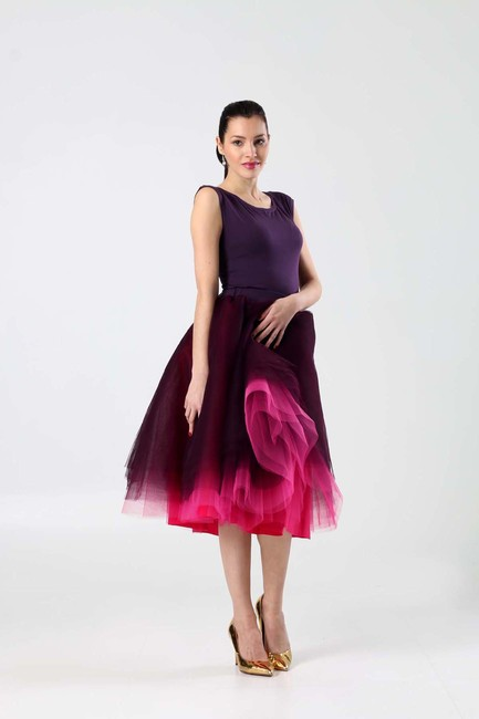 Pink Violet tylová sukňa