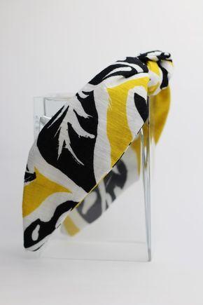 Čelenka biela so žlto hnedým vzorom