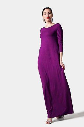 Dlhé šaty fialové