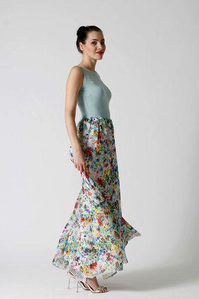 Dlhé šaty so šifónom