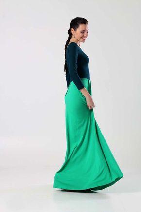 Dvojfarebné dlhé šaty