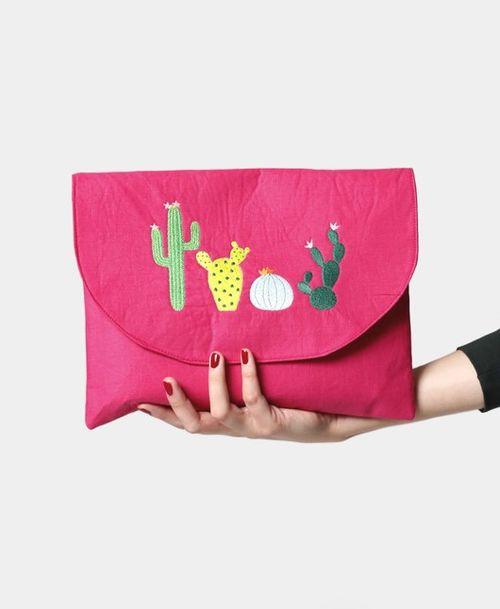 Kabelka listová veľká ružová kaktus