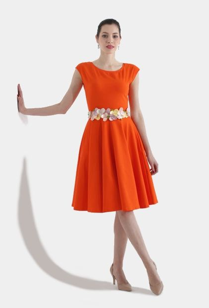 Šaty Orange Bloom