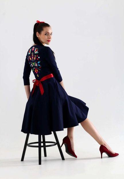Šaty Blue Flame