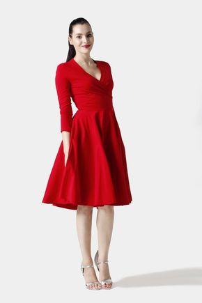 Šaty Cross červené