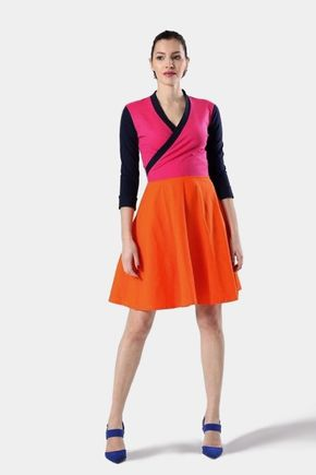 Šaty Cross s polkruhovou sukňou