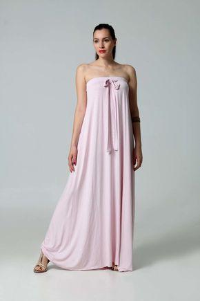 Šaty dlhé bledo ružové