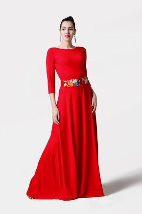 Šaty dlhé červené