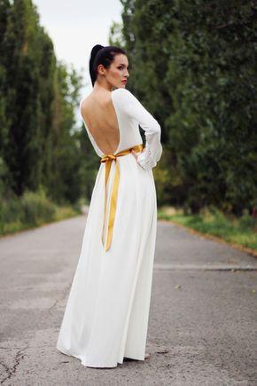 Šaty dlhé s riasenými rukávmi