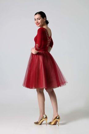 Šaty Jewel Bordo