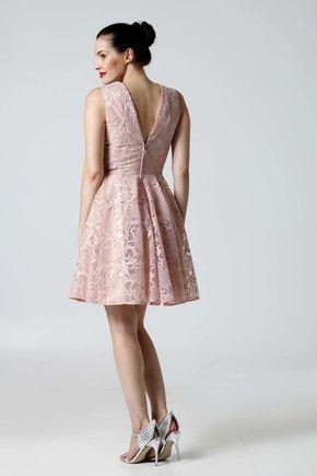 Šaty krajkové ružové