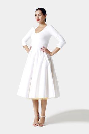 Šaty Midi biele s véčkom