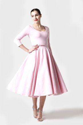 Šaty Midi bledo ružové