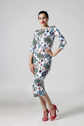 Šaty Midi simple so vzorom