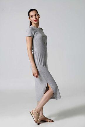 Šaty midi voľné s rázporkami