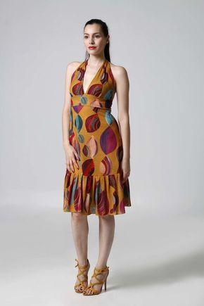Šaty okrové s viazaním