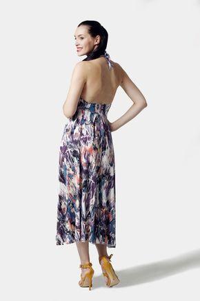 Šaty so vzorom a viazaním