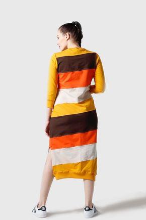 Šaty teplákové pásikavé