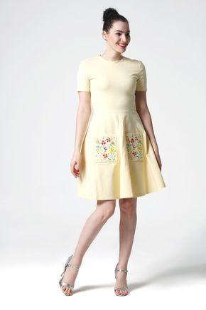 Šaty Záhradá pastelovo žlté