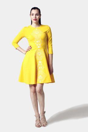 Šaty žlté Lovely