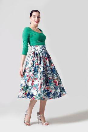 Sukňa midi bavlnená so vzorom