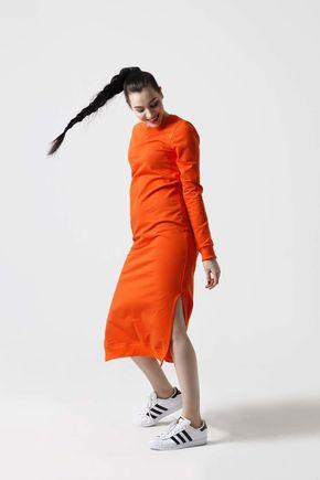 Teplákové šaty oranžové