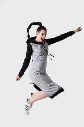 Teplákové šaty dvojfarebné