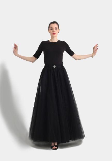 Tylová sukňa dlhá