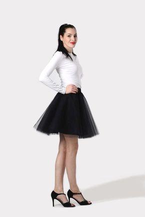Tylová sukňa mini