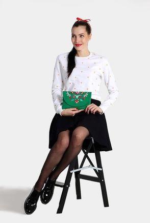 Zelená listová kabelka