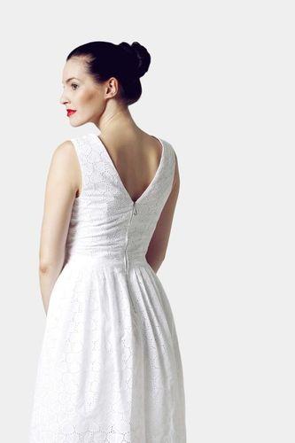 Šaty biele z madeiry