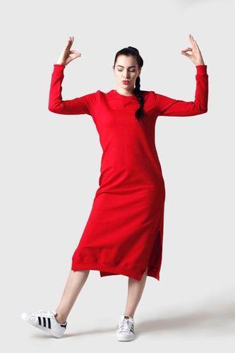 Teplákové šaty červené